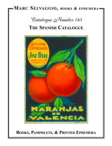 Catalogue 143 The Spanish Catalogue
