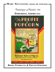 Catalogue 144 Ephemeral Americana